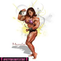 Musclexx Pinup Commission Set Sample by SteeleBlazer84