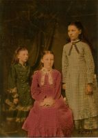 Mary, Laura and Carrie Ingalls by Linnea-Rose