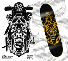 crownwave skate deck by Ikkooo