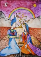 Marriage of Sky and Soil by leneanderson
