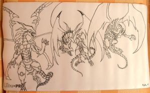 gen 1 dragons playmat in progress by SaberThetis