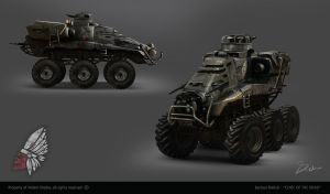 CHIEF OF THE DEAD - apocalyptic vehicle concept by bartekgraf