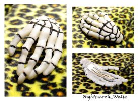 Skeleton Hand Polymer Clay by n1ghtmar1shwaltz
