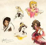 Disney doodles 9.02.10 by alicexz
