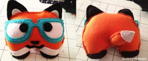 Nerd Fox felt plush by AudreyMillerArt