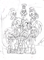 Cindy and Hedgie Family Portrait WIP by HeroineMarielys