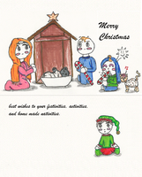 cute christmas card design by Mollykittykat
