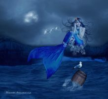 Mermaid and Seagull by maiarcita
