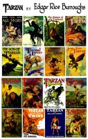 Tarzan by Edgar Rice Burroughs Collage Part 1 by StevenEly