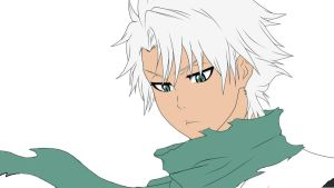 Toshiro Hitsugaya (Speedart(?)/color) by ShinigamiYuki-chan