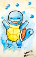 Squirtle Painting by brandimillerart