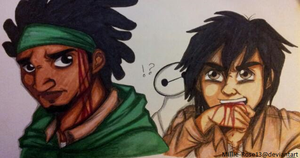 Attack On Big Hero 6: Wasabi And Hiro by Millie-Rose13
