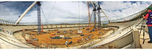 The New Stadium Pano by exoart