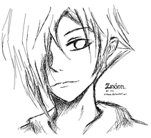 Zexion MS Paint Sketch by Ninibear