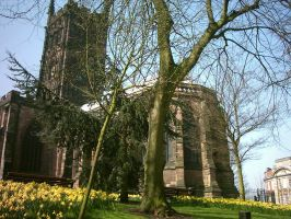 Wolverhampton-Church and Trees by violetomega