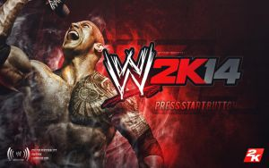 WWE 2K14 custom start up menu by MDSHar1ey