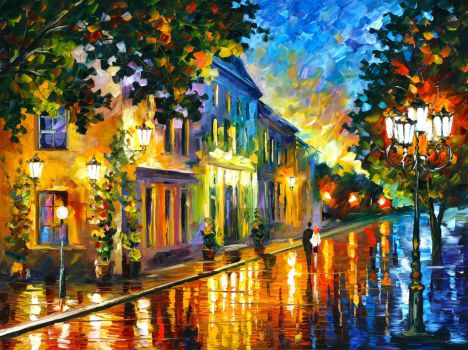 On the Way to Morning by Leonid Afremov by Leonidafremov