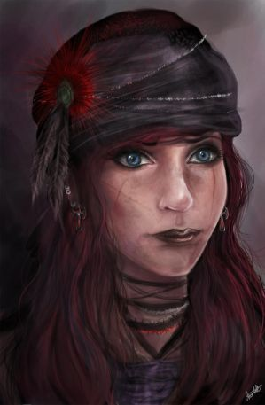 Pirate Character Concept Portrait by CharlightArt
