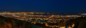 Bay at Night Panorama HDR by Midwinters-twilight