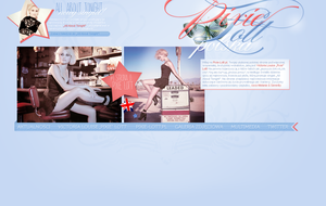 Pixie Lott Blue Layout by lovegonewrong