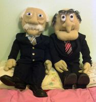 Statler and Waldorf by battleaxecustomsewn