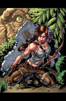 Tomb Raider Pinup Colors by CdubbArt