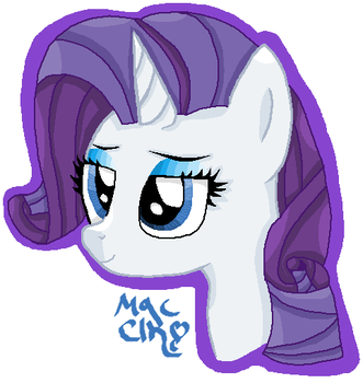 Rarity Button Design by MagicClan