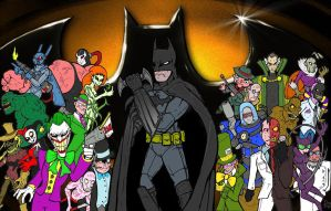 Batman and villians by Danmalin