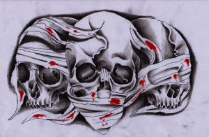 3 skulls by Unibody