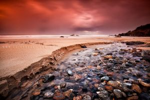 Rocky Beach Stream by CainPascoe
