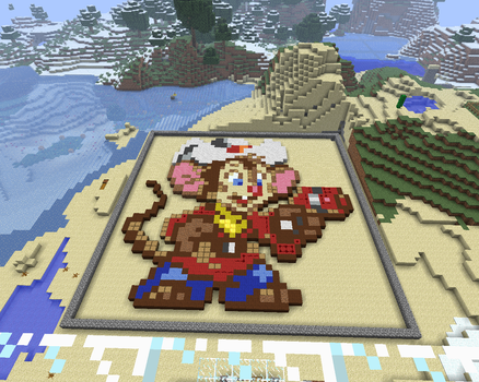 Fievel Mousekewitz - Minecraft Pixel Art by VcSaJen