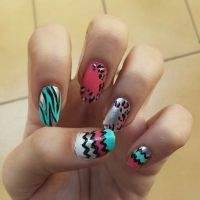 Animal print nails by niqitaMonster
