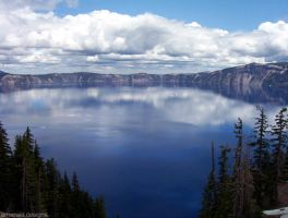 Crater Lake by EmeraldEmpress