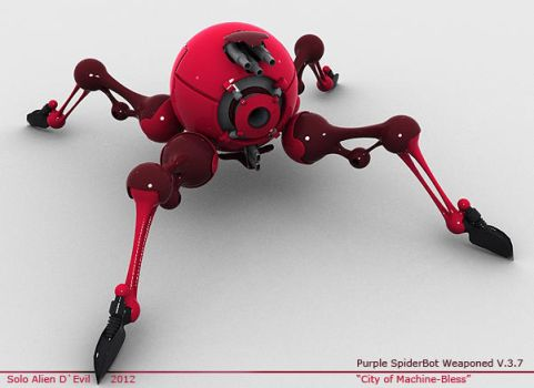 Purple SpiderBot Weaponed v.3.7 by SoloAlien