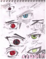 Naruto Eight Eyes Sketch by TeamMinato