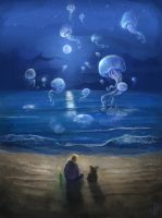 Night of flying jellyfishes by nicheltoten