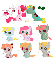 MLP Breedable Babies - Milda x Comet CLOSED by kitty910