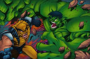 Wolverine Vs Hulk by AlonsoEspinoza