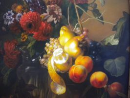Still life with flowers and fruits by George-Mucollari