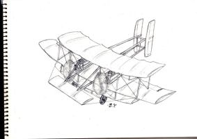 Speed Art Trade: 'Wooden Aeroplane' by Miniyippo