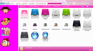 pack de iconos de discos duros by TutosLadyPink