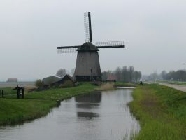 Water 100 - windmill in Dutch countryside by Momotte2stocks