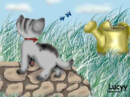 THE CAT IN THE GARDEN by Lucyy
