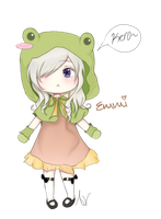 Chibi Frog Girl by elessaria