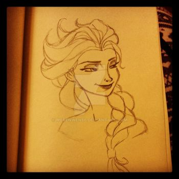 Elsa, the Snow Queen by Merenwen86