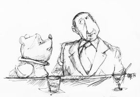 Winnie The Pooh And Frank Costello by LevonHackensaw