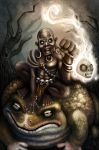 witch doctor on the back of the toad of hugeness by Xephrow