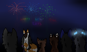 Happy New Year with friends! by Neko-longtail