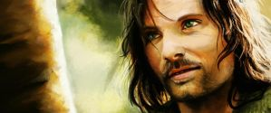 Aragorn painting - LotR by May-Ya