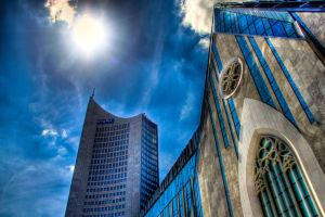 Uni + City Tower in Leipzig, HDR by Ivels